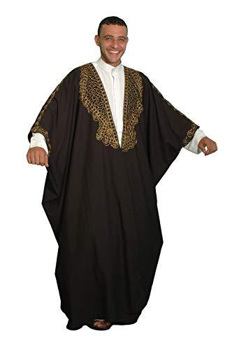 Egypt Bazar Kaftan-Umhang Einheitsgröße: S bis 5XL, schwarz/Gold