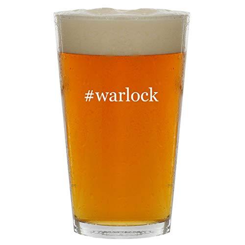 #warlock - 16oz Hashtag Clear Glass Beer Pint Glass