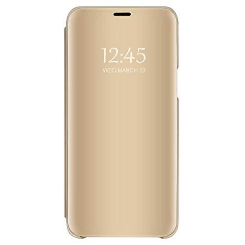 Bakicey Hoesje voor Samsung Galaxy S9, spiegel, beschermhoes, fliphoes, lederen case, cover voor Samsung Galaxy S9, standfunctie, spiegel, telefoonhoes, etui, bumper, hoes voor Samsung Galaxy S9
