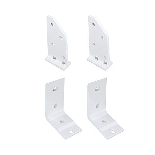 paramondo Dachsparrenhalter-Set mit Deckenwinkel für Kassettenmarkise Line | weiß, 2er Set