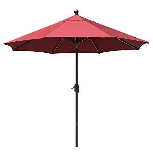 EliteShade Sunbrella 9Ft Market Umbrella Patio Outdoor Table Umbrella with Ventilation and 5 Years Non-Fading Top, Burgundy