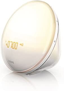 Philips Wake-Up Light Alarm Clock with Colored Sunrise...