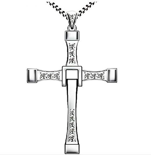 ReisJewelry 925 Sterling Silver Religious Dominic Toretto's Cross Pendant Neckalce (Dominic Toretto's Cross)