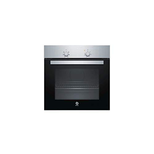 Balay, 3HB1000X0 - Horno multifunción, 5 funciones, indicador luminoso, 71 L, 60 cm, Inox Básico, Negro/Acero inoxidable