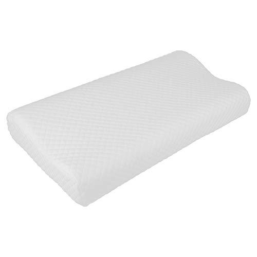 Almohada cervical, almohada de espuma viscoelástica, cojín para el soporte del cuello para dormir, cojín para dormir, desmontado para la travesina trasera y lateral (B)