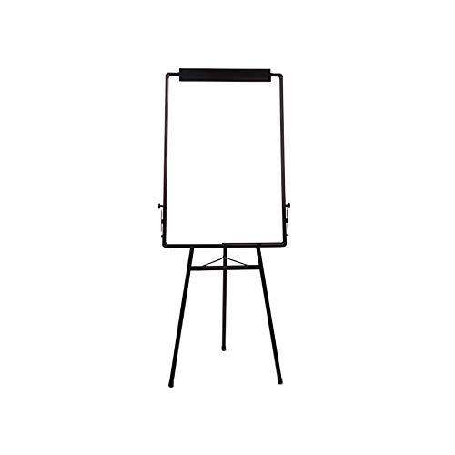 Vobajf Tableau Blanc trépied Pliable Blanc Flipboard réglable Demo Board + 2 effaçables Stylos 1 Eraser Tableau Noir 8 Boutons magnétiques Tableaux Blancs (Couleur : Blanc, Taille : 60x90cm)