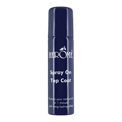 Herome Schnelltrockender Nagelspray (Spray On Top Coat) - 75ml - Geschützte und Trockene Nagellack in Einer Minute