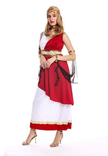 Dress ME UP - W-0256-M/L Kostüm Damen Frauen Karneval Griechische Göttin Priesterin Rom Antike M/L
