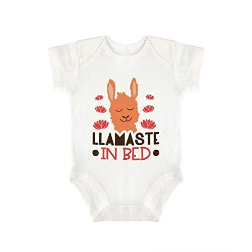 DKISEE Novedad bonito bebé mono – Divertido archivo cortado Llamaste en la cama bebé niño y niña bebé mono 18 meses