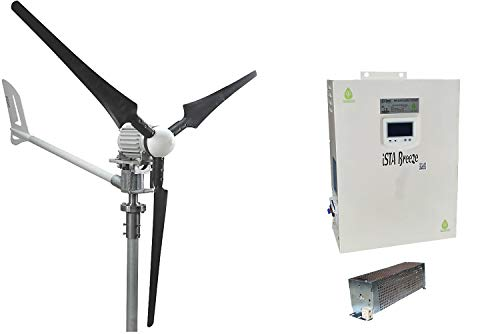 ISTABREEZE Set 1.5kW, 24V Windsafe, WINDGENERATOR, Charger, I / HCC1500 / 24V (1.5Kw 24V Wind Turbine + Hybrid Charge Controller)