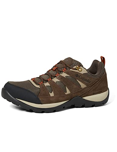 Columbia Men's Redmond V2 Waterproof Hiking Shoe, Mud/Dark Adobe, 11