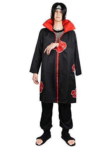 CoolChange Naruto Kostüm Akatsuki Itachi Mantel Cosplay Umhang (M)