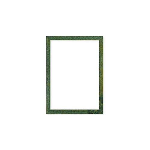 Grün rahmen - Konfetti-Holz range 20 mm Bild- / Foto- / Posterrahmen - Mit MDF platte - mit Plexiglasblatte - A4