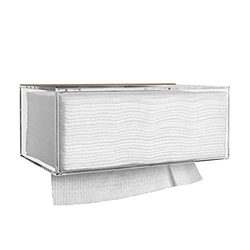 DONGTAISHANGCHENG Tapeteros de Papel higiénico Montaje de Pared Toalla de Papel Dispensador con Tapa de Papel acrílico para Toallas de Papel para Toallas de Papel de Doble Plegable (Size : L)