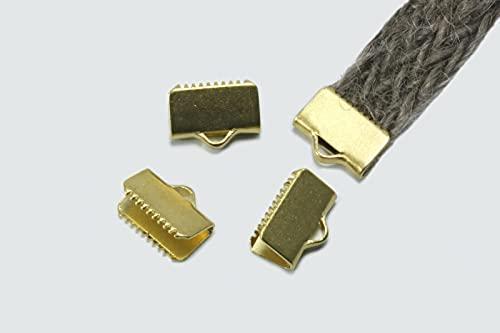 INWARIA M-103/10 - Tapas de terminales planas, 10 mm, latón Raw Brass en bruto, 50 unidades