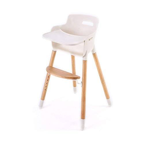 Best Buy! Jueven Rounded Plastic High Chair Solid Wood Children's Dining Chair Baby Eating Chair Hom...