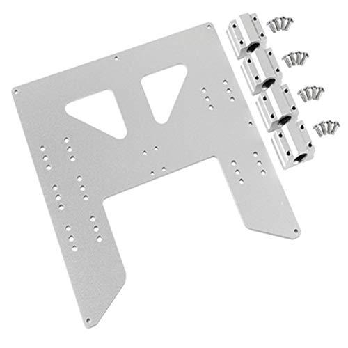 CUHAWUDBA ActualizacióN de Impresora 3D Placa de Aluminio Anodizado con Carro y para Soporte de Cama Caliente A8 para Impresoras 3D Prusa I3 Anet A8 Plata