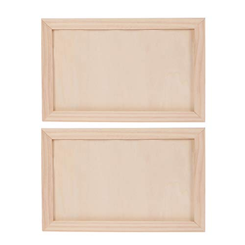 Healifty 2 Piezas Tablero de Pintura de Madera Abedul Tableros de Panel de Cuna de Madera Lienzo de Madera Artesanía Artistas Suministros para Manualidades Pintura (Tamaño L)