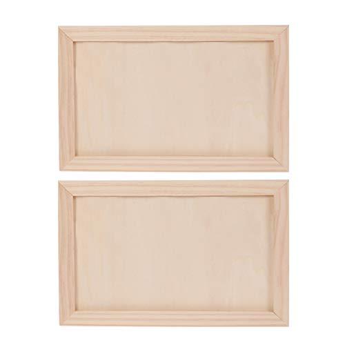 Healifty 2 Piezas Tablero de Pintura de Madera Abedul Tableros de Panel...