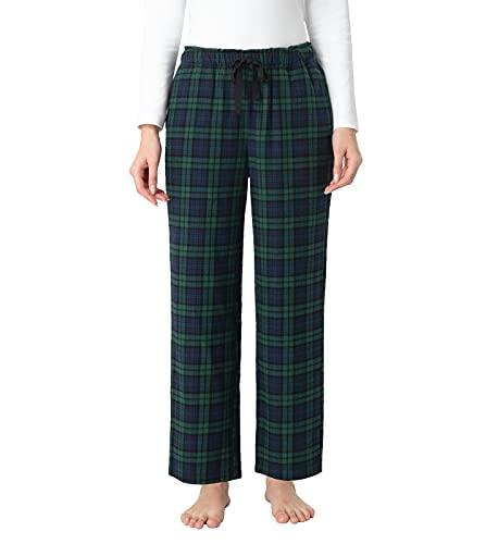 LAPASA Pijama Mujer de 100% Algodón Franela con Estampado Escocés, Pantalones de Pijama para Casa...