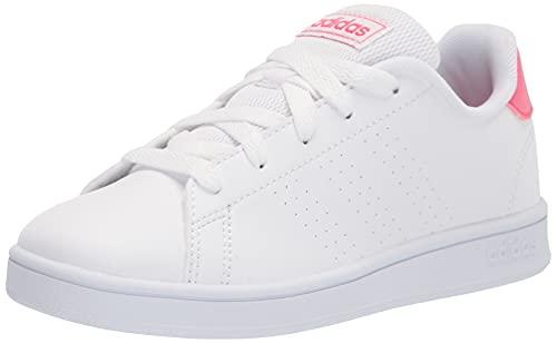 adidas Kids Fashion Shoes Casual Comfort Advantage Tenis Inspirado en Las niñas, Color Blanco, Talla 36 2/3 EU