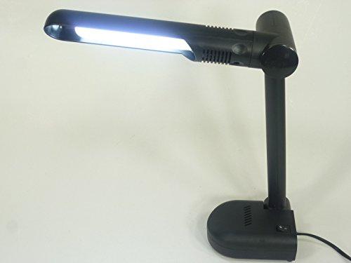Praktische Schreibtischleuchte Billy inklusive Energiespar Leuchtmittel, schwenkbar (schwarz)
