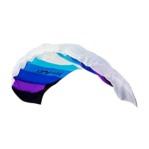 Wolkenstürmer® Paraflex Basic 2-Leiner Lenkmatte 1.2 blau - Kite Drachen mit Flugschlaufen – Zweileiner Lenkdrachen - Flugdrachen für Anfänger & Kinder ab 6 Jahren