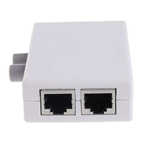 Ashley GAO Nätverksomkopplare med två portar LAN-väljare mini internet internt externt nätverksswitchare RJ45-2M nätverksswitchare