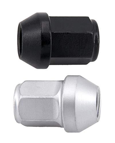 Levando 20 Stück Radmutter M14x1,5 33mm Schaftlänge Kegel60°SW19 – Radnüsse-Set mit 20x Radnuss geschlossen, Mutter geeignet für Alufelgen (Reifenwechsel), Farbe schwarz
