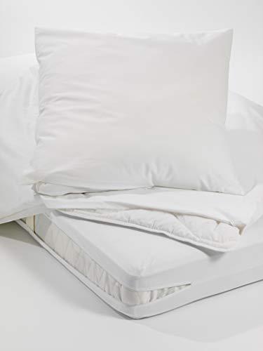 Allergiker Milben Bettwäsche Matratzenbezug, rundum 90 x 220 cm, Encasing Milbenkotdicht Höhe 20 cm, Milbenschutz für Hausstauballergiker