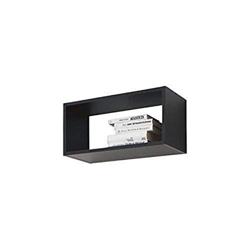 CS Schmal-High-Density-Spanplatte Media Center Aufbewahrungsmöglichkeiten, 71 x 29 x 10 cm, Schwarz