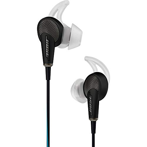 Bose QuietComfort 20 Acoustic Noise Canceling Headphones Black (Renewed)