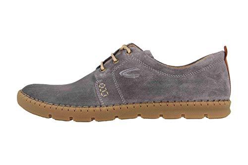 camel active Ethnic, Zapatos de Cordones Derby para Hombre, Gris (Ash 02), 47 EU