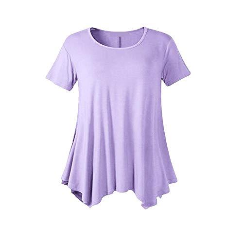 Sommer Frauen V-Ausschnitt Einfarbig Lose GroßE Schaukel KurzäRmelige T-Shirt Bottoming Shirt