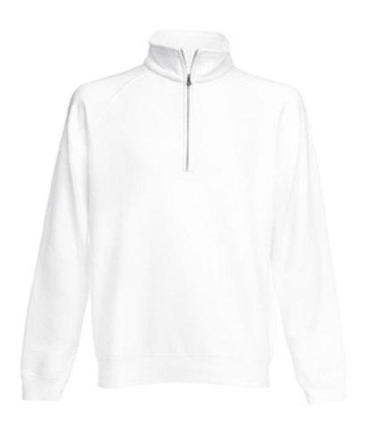 Fruit of the Loom Classic Sweat-Shirt, Blanc, L Mixte Adulte
