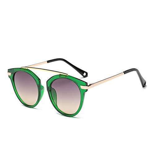 ZJMIYJ Occhiali da Sole,Occhiali Design Legno&Amp;Disegno Marmorizzato Round Specchiata Occhiali da Sole retrò Eleganti Occhiali da Femmina per Il Pilotaggio di Donne Occhiali Cornice Verde