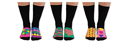 trendaffe - Calcetines locos, calcetines Oddsocks, juego de 6, calcetines Oddsocks Secret Soles