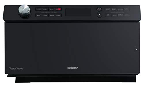 Galanz GTWHG12BKSA10 4-in-1 ToastWave with TotalFry 360, Convection Microwave, Toaster Oven, Air Fryer, 1000W/1.2 Cu.Ft, LCD Display, Cook, Sensor Reheat, Black