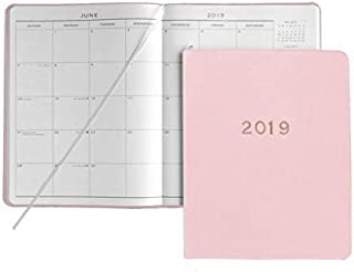 2019 GALLERY LEATHER Sweet Pink Leather Cartier Large Monthly Planner MADE IN USA