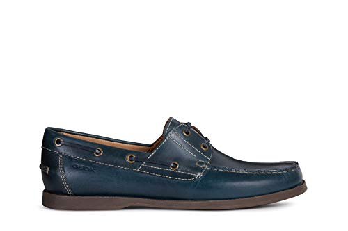 Geox Uomo Mocassini U Juarez, Uomini Pantofola, Slip-on Scarpa Bassa,Scarpa College,Mocassino,Scarpe Business,Blau,41 EU / 7 UK