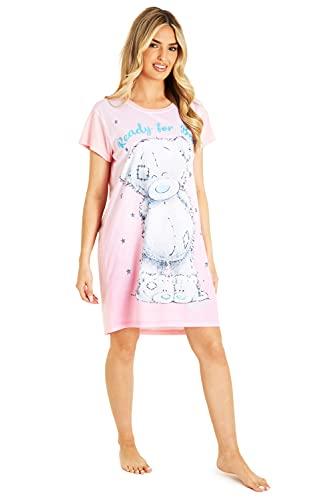 Me To You Camison Mujer, Pijamas Mujer del Osito Tatty Teddy, Camisones para Mujer de Manga Corta, Regalos para Mujer y Adolescente Talla XS-XL (Rosa, M)