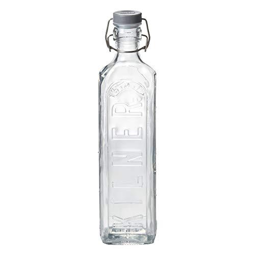 醤油さし、卓上調味料入れ ボトル 1L 6個 ガラス クリップトップボトル KILNER キルナー(0025007)