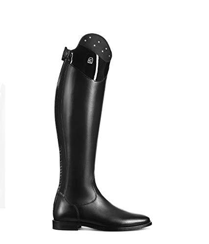 Cavallo Reitstiefel Linus Dressage Edition Nubuk Lack Strass schwarz, Schuhgröße:5-5.5 H49 W35