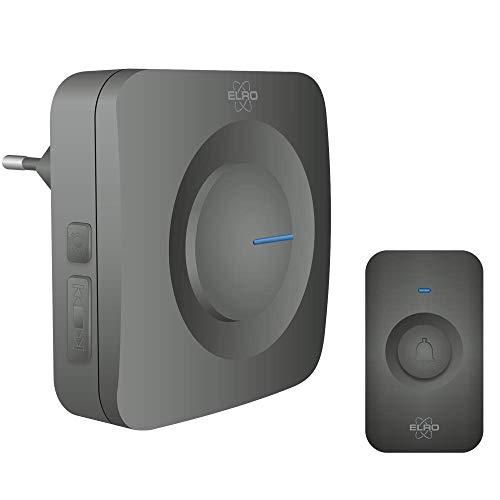 ELRO dB3000 Juego de Timbre Inalámbrico - Receptor con enchufe plug-In - Sin pilas - Negro