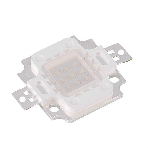 Weiyiroty Chip LED UV Chips LED Integrados, 395-400Nm COB Cuentas de lámpara de luz Ultravioleta Chips UV Integrados, no tóxico para una Variedad de usos(10W)