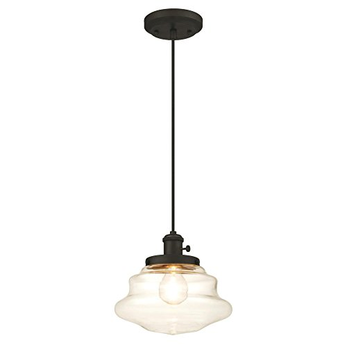 Westinghouse Lighting 6346000 One-Light Mini Pendant, Oil Rubbed Bronze Finish with Clear Glass