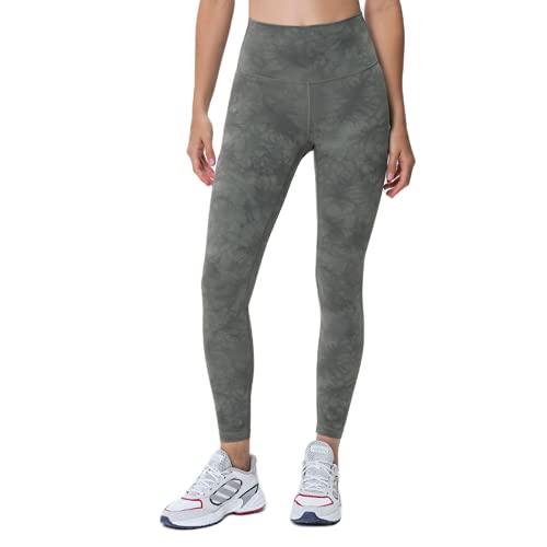 QTJY Camuflaje para Mujer, Medias de Cintura Alta a la Cadera, Pantalones de Yoga, Pantalones elásticos de Secado rápido, Pantalones Deportivos para Correr al Aire Libre, E XL