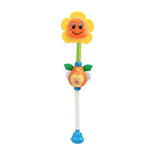 yuwei Nette Sonnenblumen Wasserhahn Dusche Elektrisches Wasserspray Spielzeug Kleinkinder Bad Schwimmen GIFS