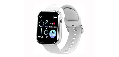 ASDFDG Reloj Inteligente Bluetooth, Reloj Inteligente con Pantalla Táctil de 1.5 Pulgadas,Cronómetro, Reloj Inteligente para Hombres y Mujeres para iPhone, Teléfono Androidwhite
