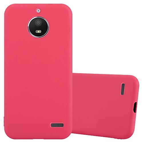 Cadorabo Funda para Motorola Moto E4 en Candy Rojo - Cubierta Proteccíon de Silicona TPU Delgada e Flexible con Antichoque - Gel Case Cover Carcasa Ligera